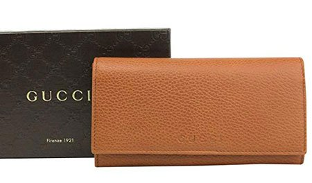 9e8279aac Gucci Mens Wallet Long/Continental Dark Orange Leather with Logo 346058 7614